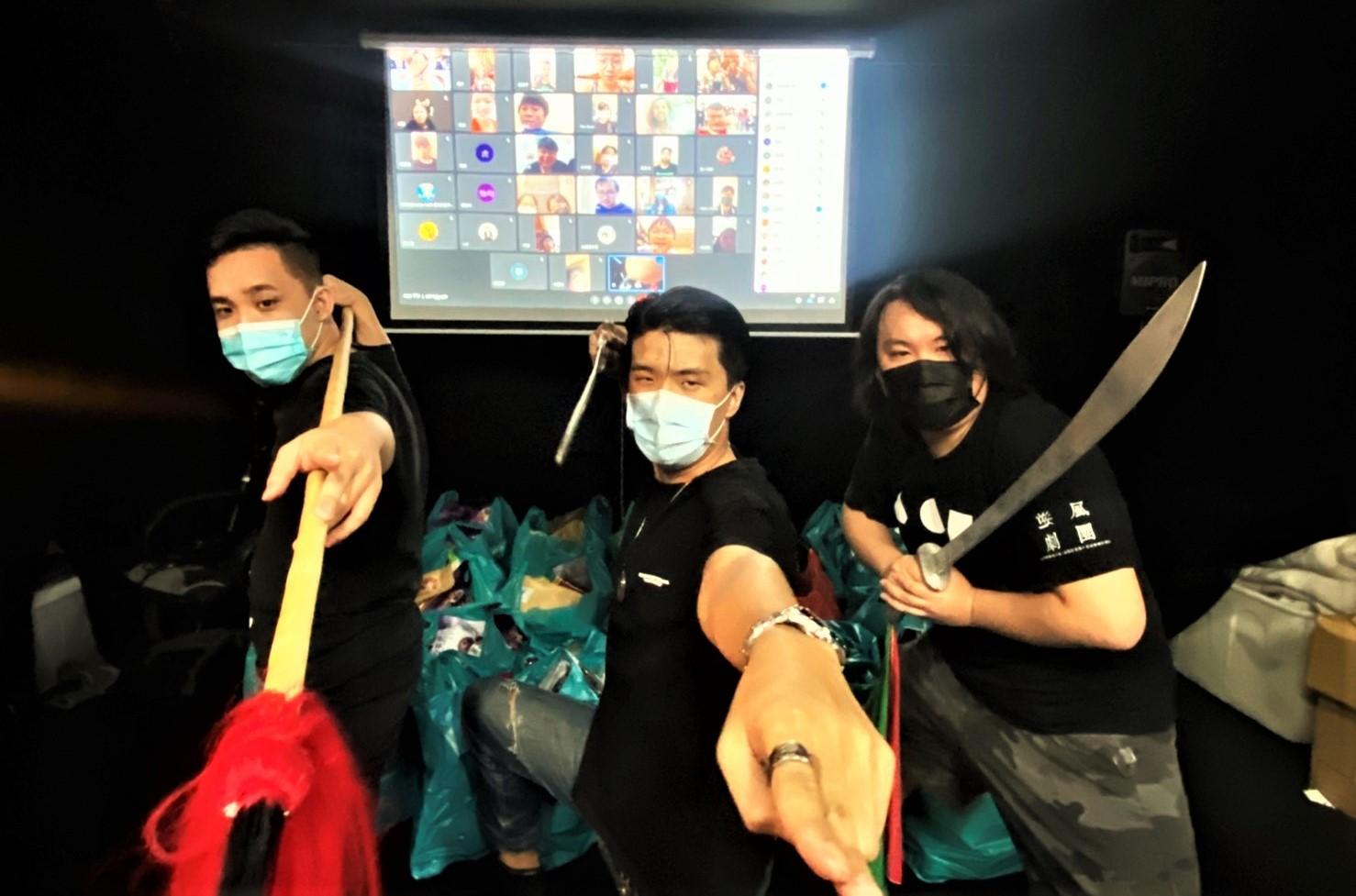 圖1:逆風劇團三位創辦人,成瑋盛(圖右)、邱奕醇(圖中)、陳韋志(圖左)。(圖/逆風劇團提供)