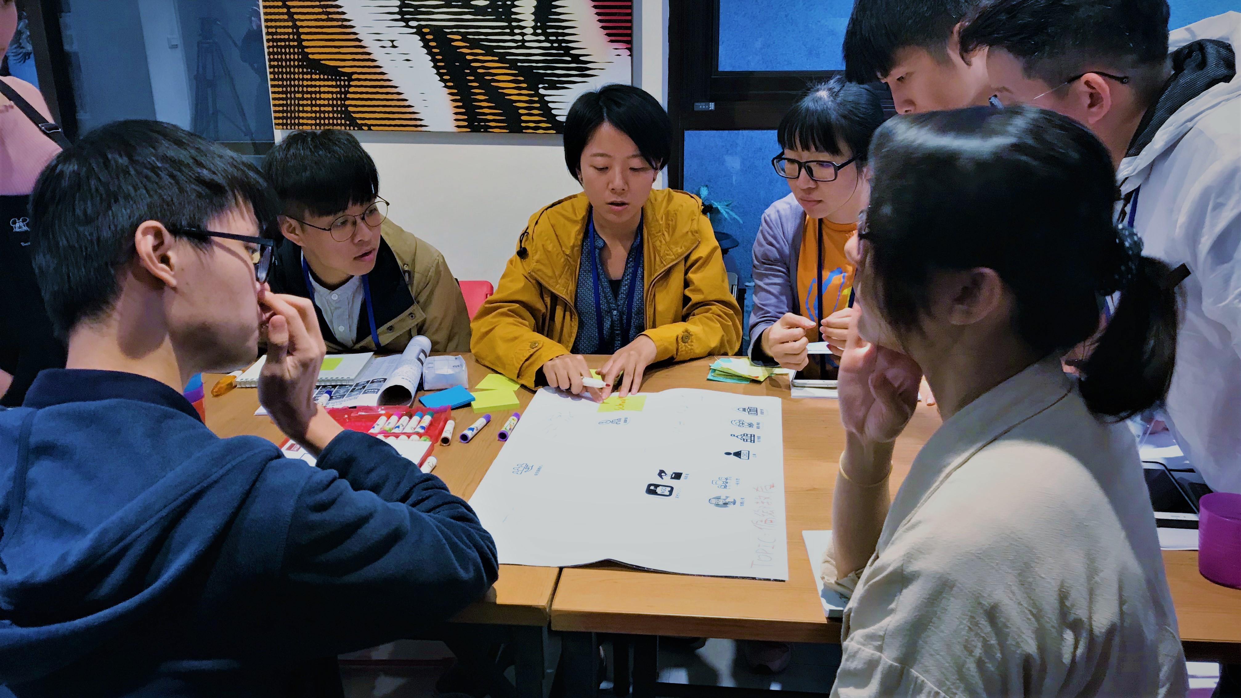 (圖三)學員進行分組討論,專心思考問題點