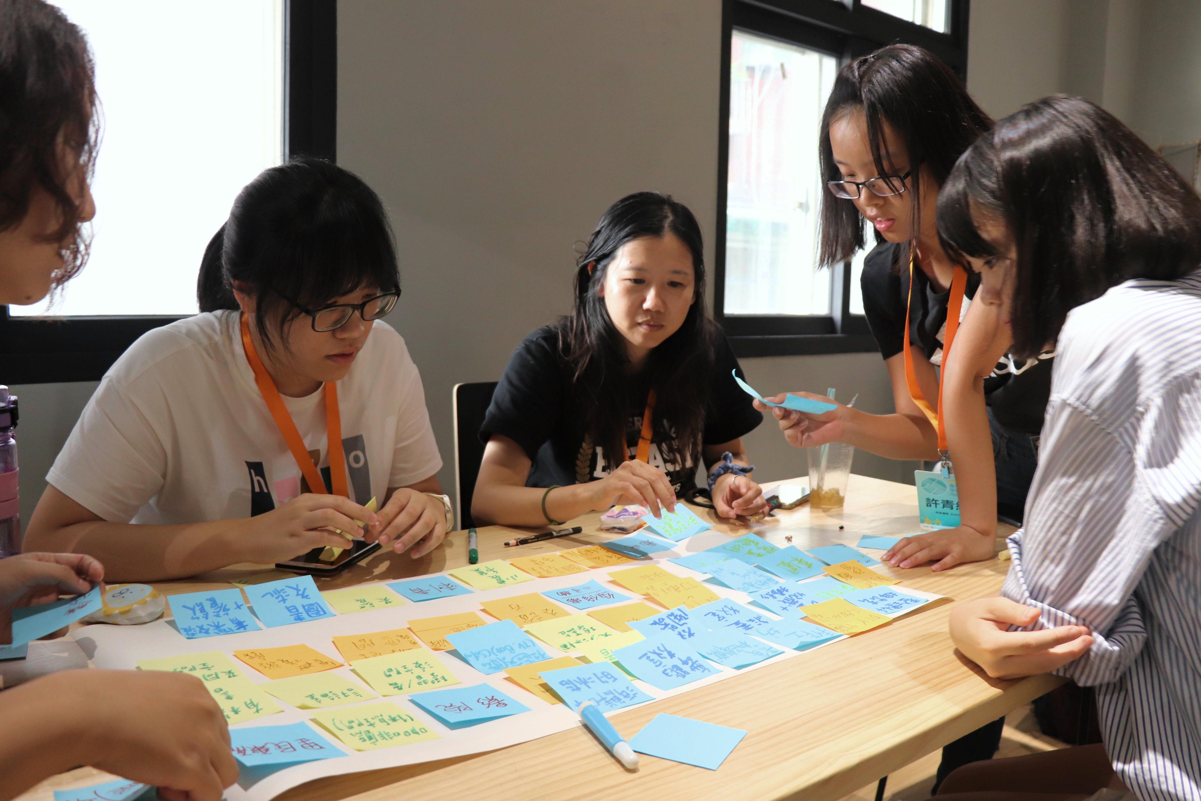 圖五:Dreamer學員們在星濱海港學校進行腦力激盪,討論地方空間利用的可能性。(攝/萬巧蓉)