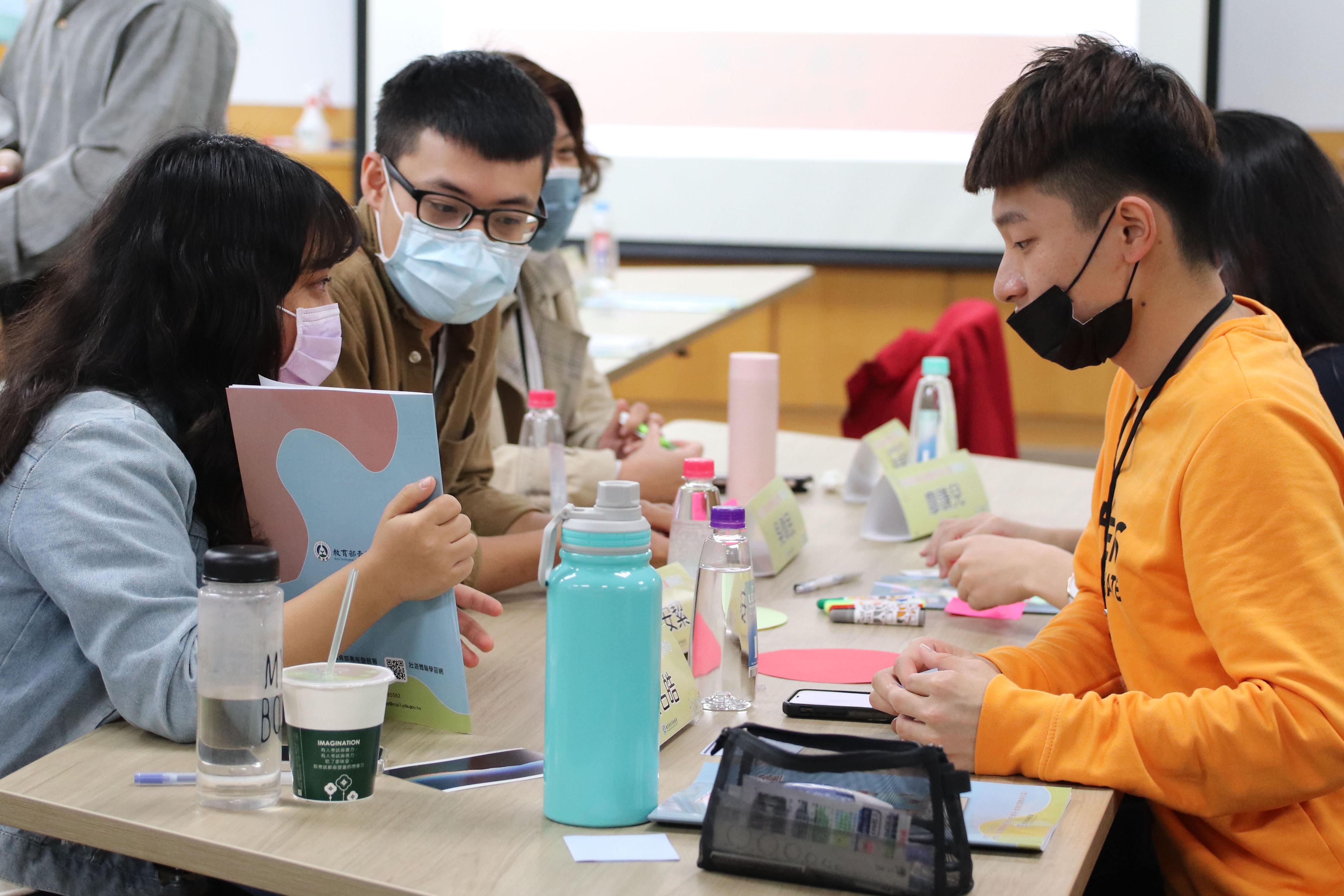 圖1:青年討論彼此的體驗計畫。圖/劉書妤攝。