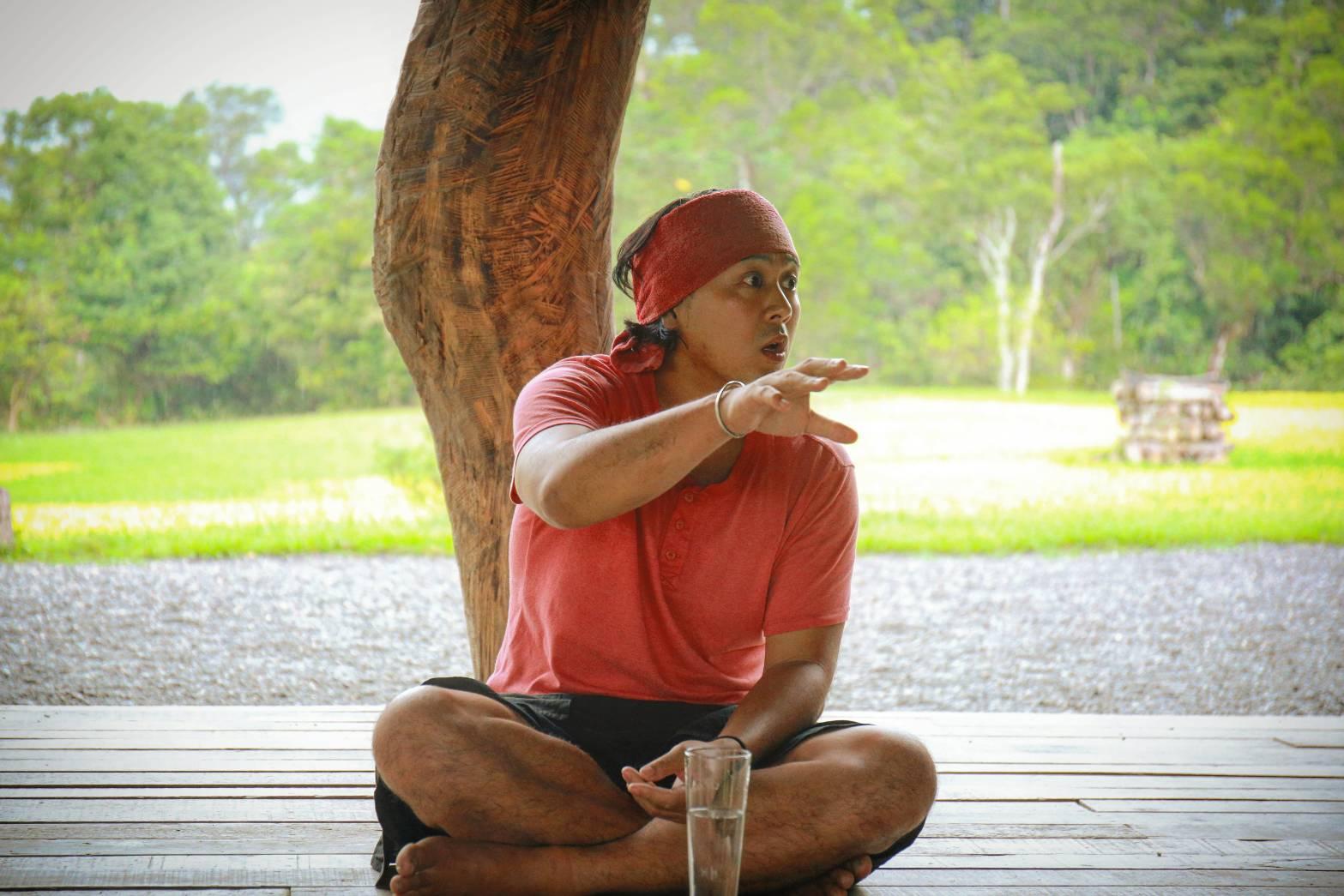 不老部落經營者Kwali和學員們分享重建部落的過程與心得。陳心慈攝影