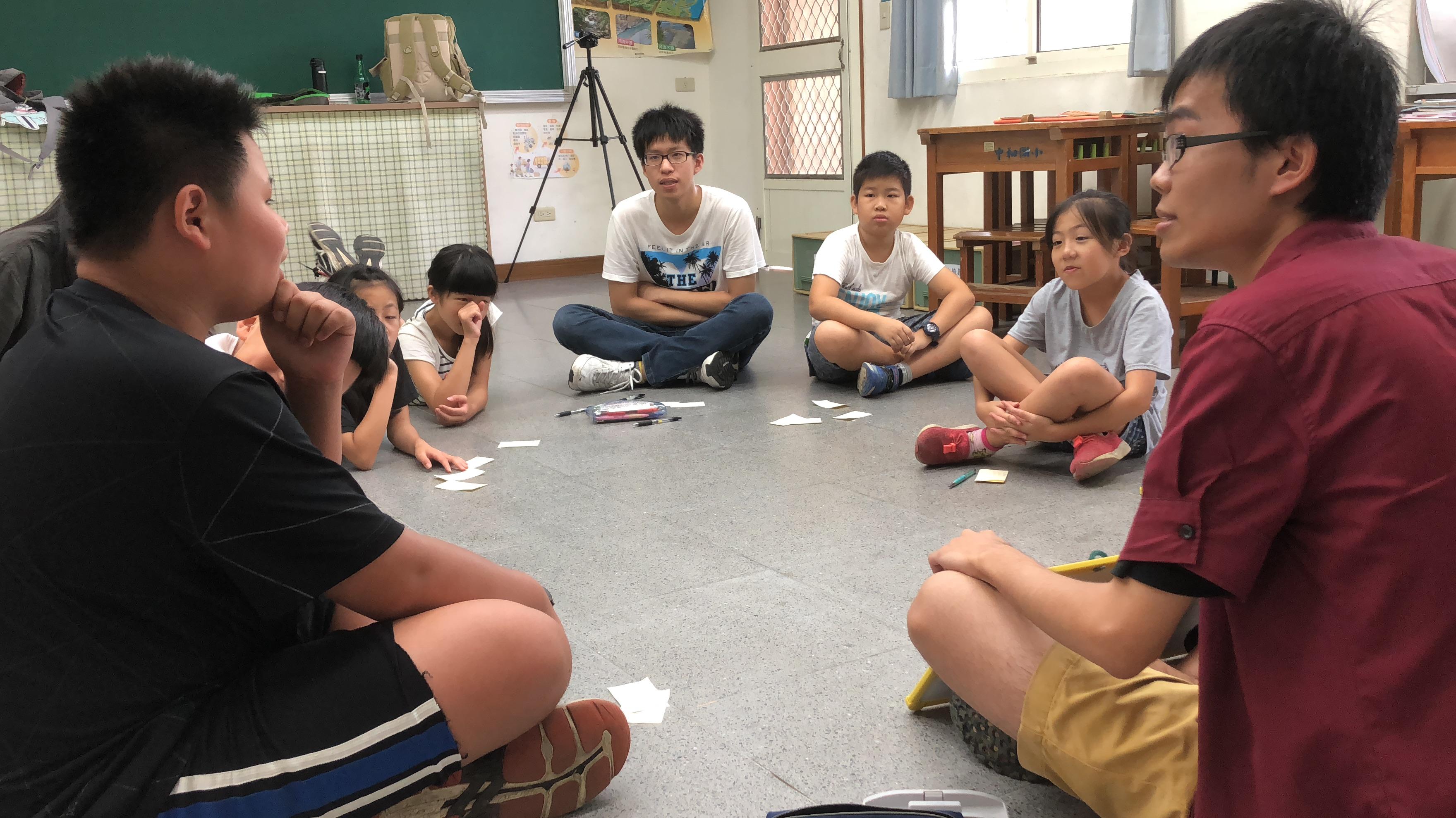 (圖五)課程中小朋友們專心參與討論,還會互相給予想法上的回饋。